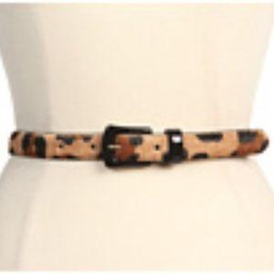 Ralph Lauren Skinny Haircalf Leopard Belt